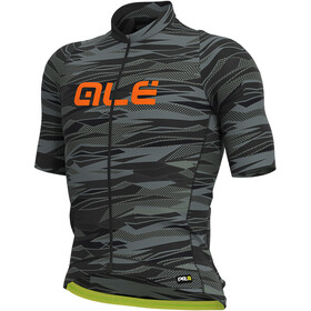 Alé Cycling Graphics PRR Rock Jersey Korte Mouwen Heren, black/fluo orange